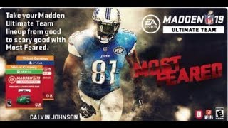 MADDEN 19 - MOST FEARED CALVIN JOHNSON CONFIRMED! GET PREPARED FOR MOST FEARED NOW!