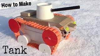 How to Make a Tank (Simple Electric Tank) - Amazing Toy - Tutorial