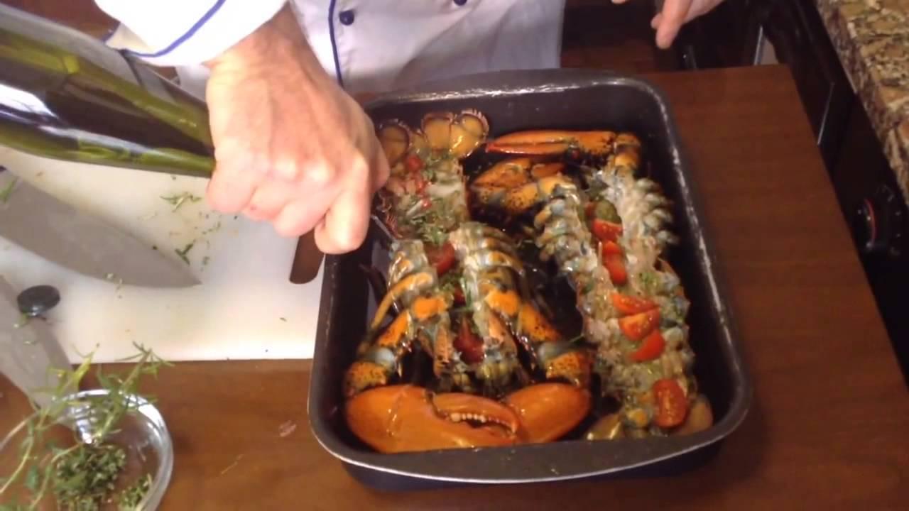 Langosta bogavante al horno chef stefano barbato youtube - Receta bogavante al horno ...