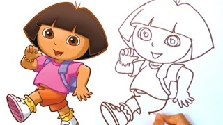 Dora The Explorer ★  How to draw Dora The Explorer Cute and Easy ★ Step by step