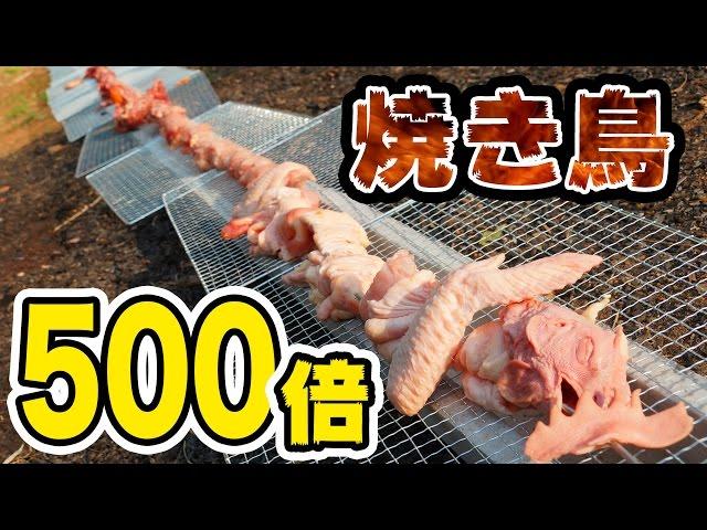 全長3m重さ3000g鳥丸ごと串!【鳥貴族びっくり】【焼き鳥】