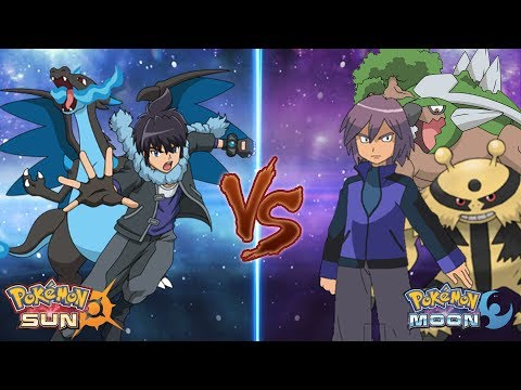 Pokemon Sun and Moon: Alain Vs Paul (Pokemon Rival Battle)