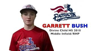 GARRETT BUSH Baseball Skills Video 032017