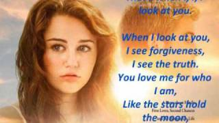 Miley cyrus when i look at you.-KARAOKE