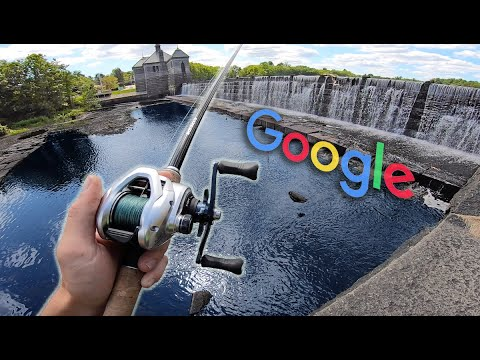 INTENSE GOOGLE MAPS FISHING CHALLENGE! (Exploring URBAN Boston Creeks & Lakes)