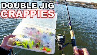 Pre-Spawn Crappie Fishing w/ DEADLY Double Jig Rig!!!
