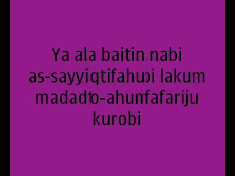 lirik Habib syech - ya ala baitin nabi