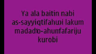 Download lagu lirik Habib syech ya ala baitin nabi MP3