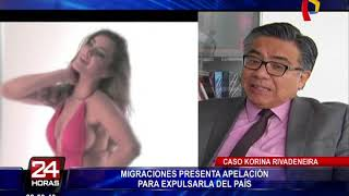 Korina Rivadeneira: Migraciones presenta apelación para expulsarla del país