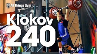 Dmitry Klokov 240kg Rack Jerk 2016 Klokov Power Weekend