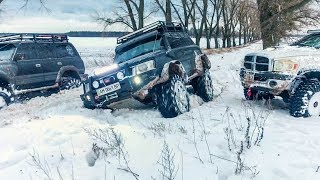 Зимний Offroad, ТАЩИМ ФУРЫ, спасли мерседеса с поля.