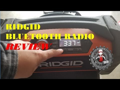 bc598a1f9e7 Ridgid GEN5X 18-Volt Jobsite Radio Review. Tool Review Zone