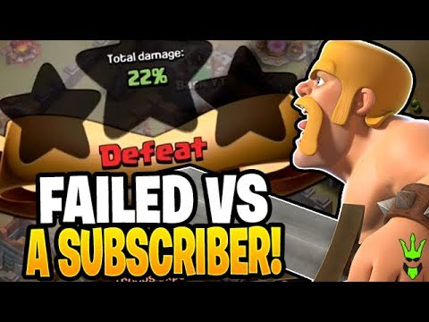 I FAILED SO BAD ON THIS SUBSCRIBERS BASE! - TH5 Tournament - Clash Of Clans