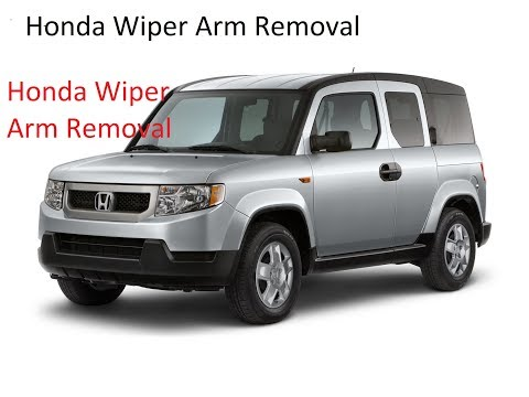 HONDA Wiper Arm Replacement/Removal.