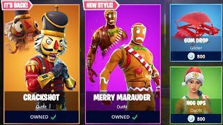 *NEW* CHRISTMAS SKINS in Fortnite! - NEW ITEM SHOP UPDATE LIVE! (Fortnite Battle Royale)