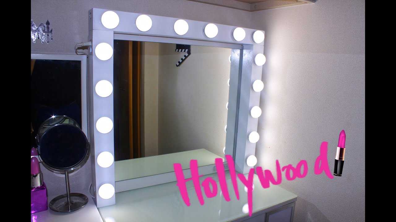 Como hacer un espejo de maquillaje hollywood tutorial for Espejo rectangular sin marco