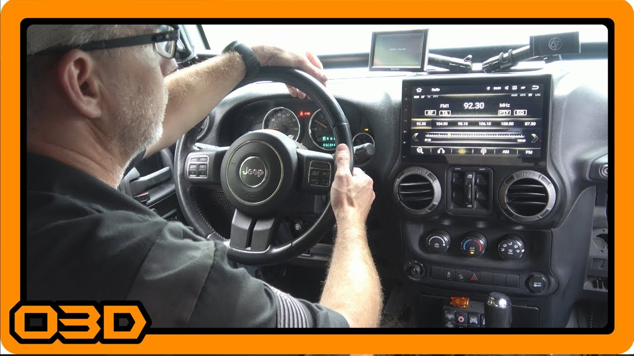 install 04 putting it in seicane 10 1 android 7 1 2 stereo head unit in 2015 jeep wrangler [ 1280 x 720 Pixel ]