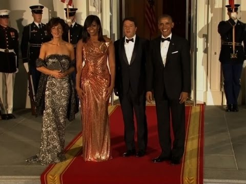Raw: Obamas Host Italy PM at Final State Dinner