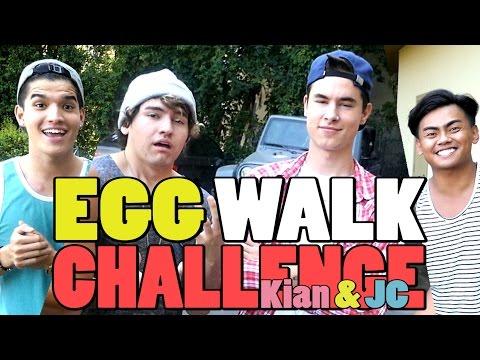 EGG WALK CHALLENGE! ft Kian & JC