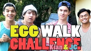 EGG WALK CHALLENGE! ft Kian & JC