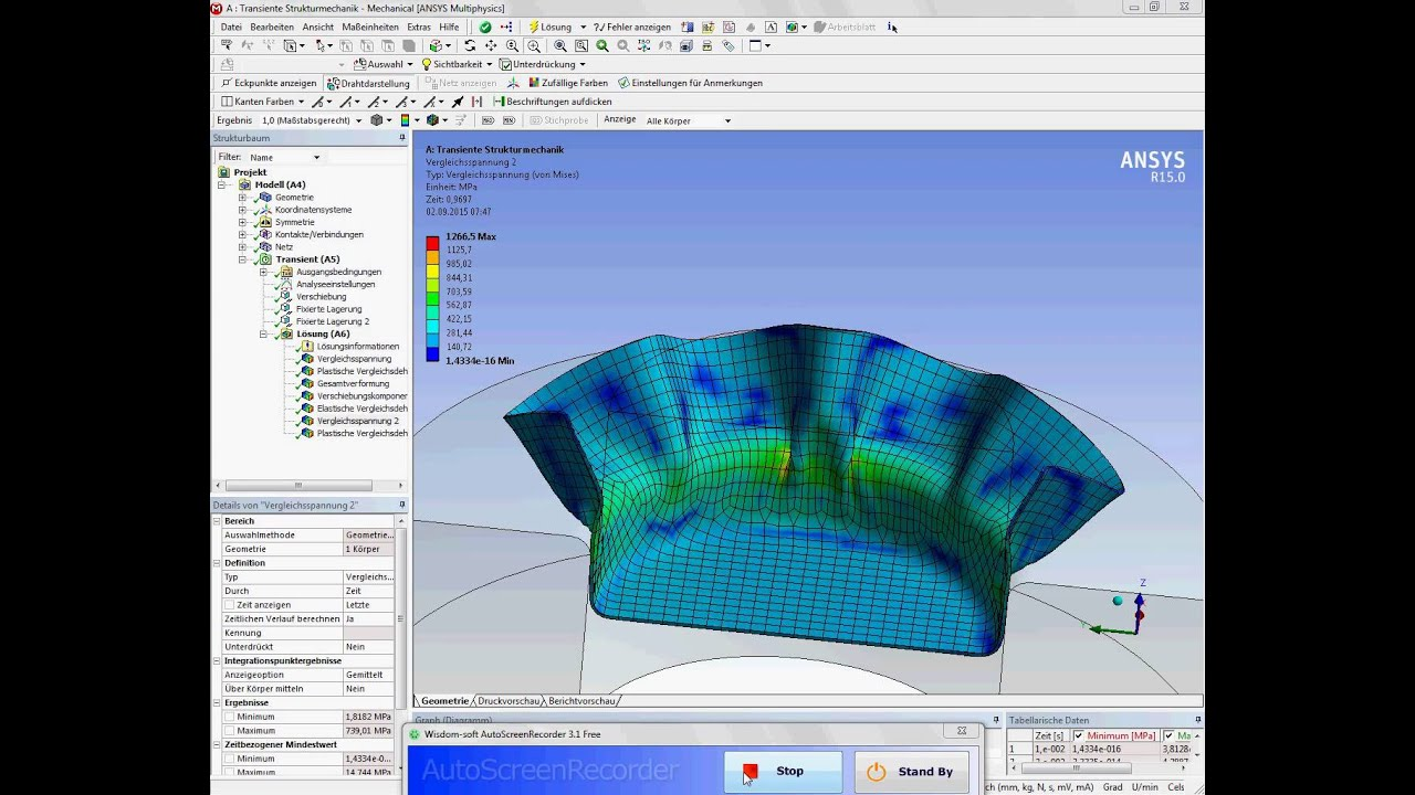 Ansys Workbench Simulation Deep Drawing Example 2