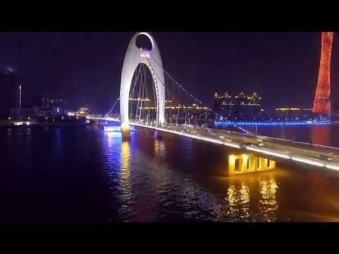 Most BEAUTIFUL View of Guangzhou- Aerial view (filmed by DJI Phantom 4 drone)