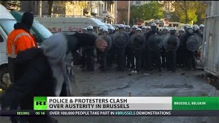 Riots deluge Brussels after austerity protest