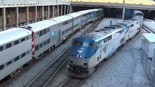 Amtrak Empire Builder compilation with private cars and much more!