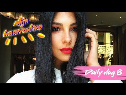 MIJN HAAR ROUTINE 2017 (zonder tangen) - Daily vlog 8 - Anna Nooshin