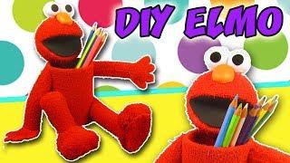 DIY ELMO Pencil Holder - Back to School - Idea School Supplies   aPasos Crafts DIY