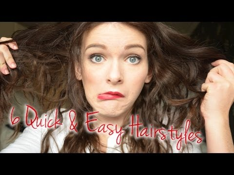 6 Quick Easy Middle Part Hairstyles Ohhitsonlyalice Youtube