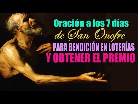 Oración a los 7 días de San Onofre bendición en loterías y conseguir ayuda obteniendo un Premio