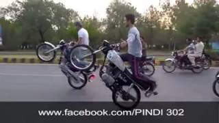 ragu rider \'\''pindi boys one wheeling