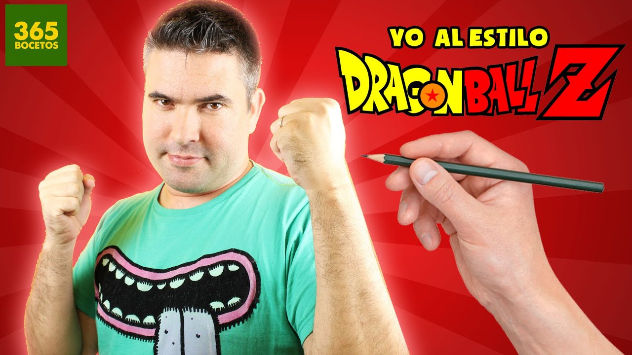 DIBUJANDOME AL ESTILO DRAGON BALL Z - Como dibujarte al estilo dragon ball z -