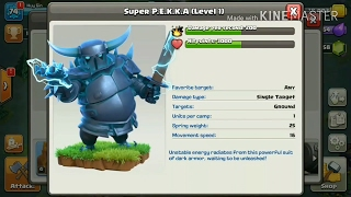 EXCLUSIVE! Gameplay of New Troop Super Pekka clash of clans