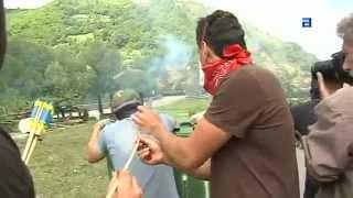 Batalla campal entre mineros y guardia civil en Aller, Asturias #ResistenciaMinera