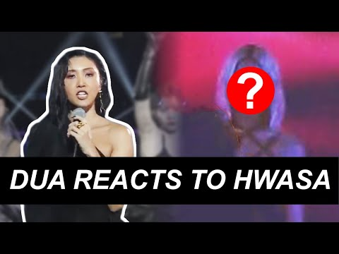 How did Dua Lipa React to Hwasa Performing New Rules?? (+ all their moments) 화사 두아 리파