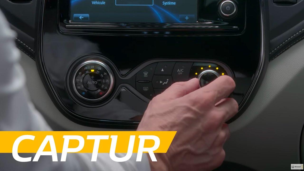 renault captur tutoriel la climatisation automatique youtube