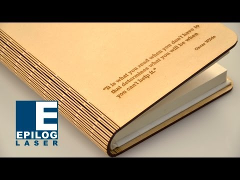 Laser Cut Living Hinge - Wood Book Cover