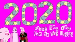 Gif Happy New Year welcome 2020 and New Decade