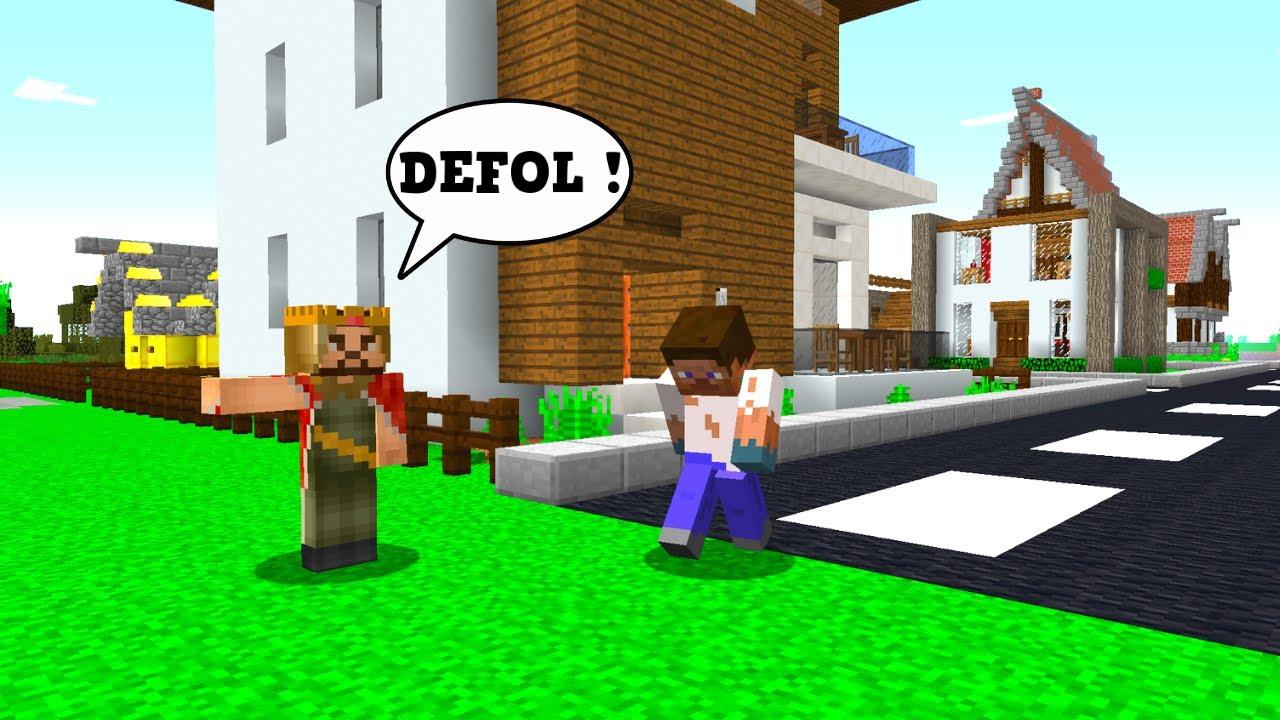 ZENGİN FAKİR'İ ŞEHİRDEN KOVDU! - 😱 - Minecraft