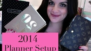 2014 Planner Setup | Louis Vuitton Agenda + Project Management Notebook