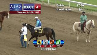Ajax Downs, July 20, 2017, Race 4