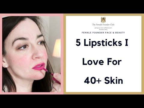 Beauty & Makeup Over Forty | Lipsticks I Love For Mature Lips | Cherry menlove & Female Founders
