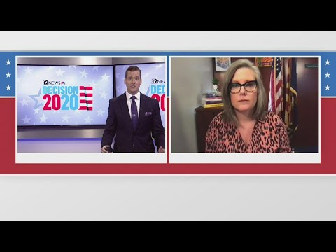 Arizona Secretary of State Katie Hobbs gives an election update