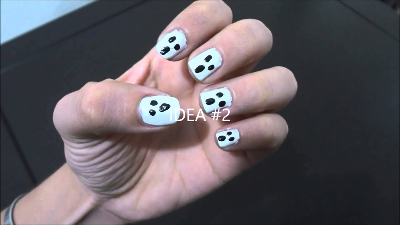 U as decoradas para halloween faciles paso a paso con - Unas decoradas con esmalte ...