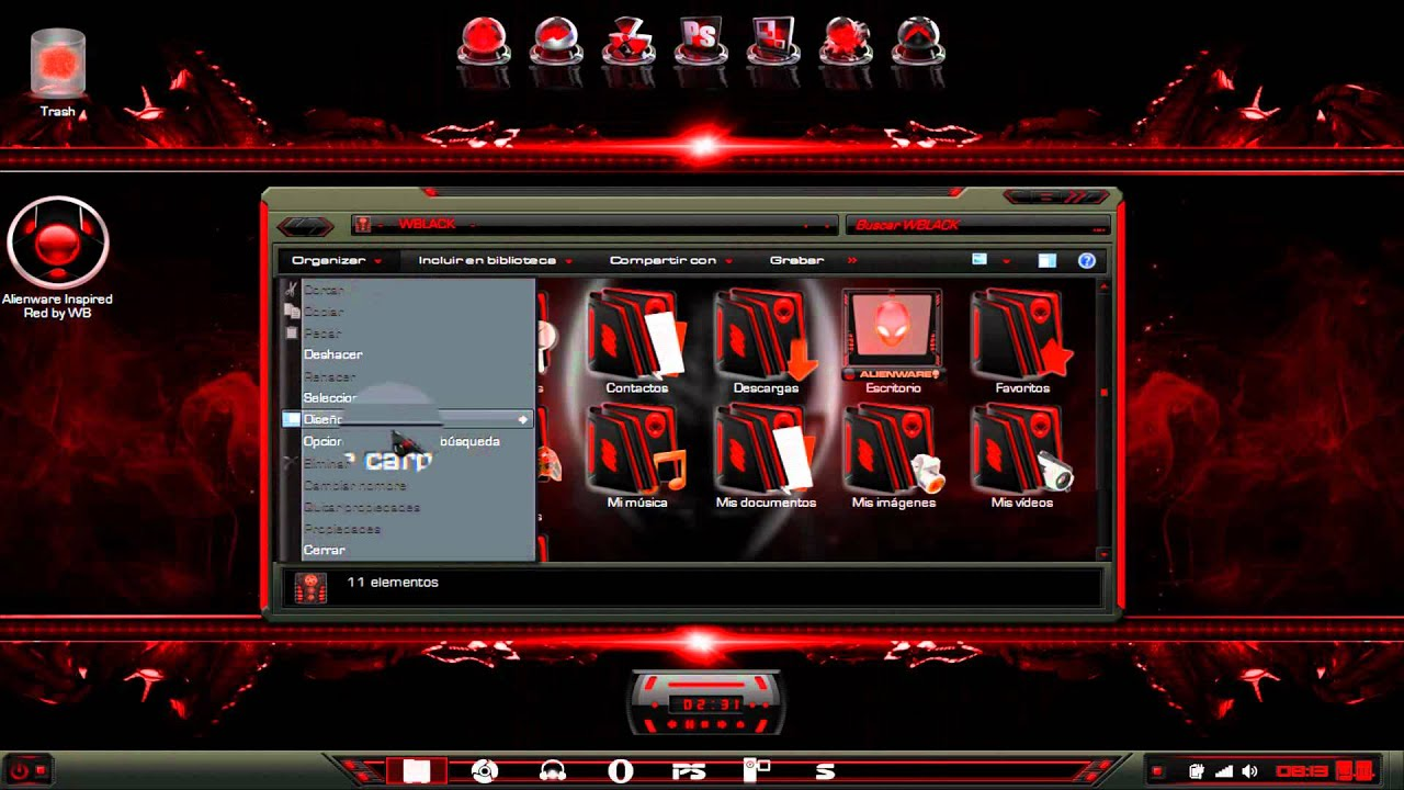 3d Hd Wallpapers Pack Free Download Icons Alienware Inspired Red By Wb Iconpackager W7