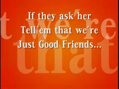 Michael Jackson-Just Good Friends with Lyrics
