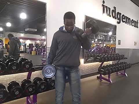 Curling 50 Pound Dumbbells 10 Times At Planet Fitness Youtube