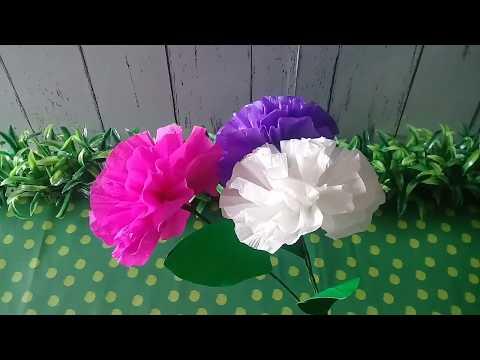 Cara Mudah Membuat Bunga Dari Kertas Krep Cocok Untuk Prakarya Sd Youtube